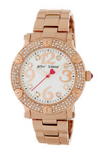 Betsey Johnson Women's BRACELET WATCH PAVE Crystal  ROSE GOLD NEW NWT (HAVE 3)