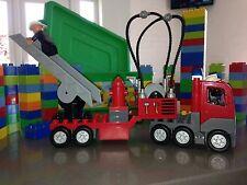 Duplo Lego Fire Engine and Box Of Duplo Bricks Bundle