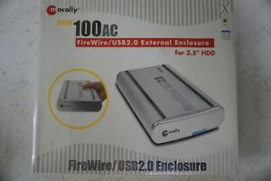 """Macally PHR100AC FireWire/USB 2.0 External Enclosure for 3.5"""" HDD. New"""
