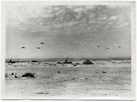 Stukas landen auf ägyptischem Flugplatz. Orig-Pressephoto von 1942