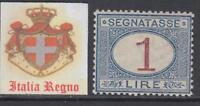 ITALY Regno 1890 Umberto I Tax 27 cv 310$ incredible centered  MH*