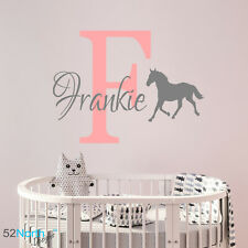 Personalised Horse Name Wall Sticker Decal childrens Kids Nursery art v013