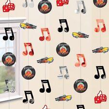 42ft 1950 anni 1950 anni'50 Rock N Roll Festa Di Compleanno Appeso Decorazioni Stringa Stagnola