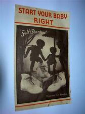 """START YOUR BABY RIGHT ""SELF STARTER SHOE PAMPHLET ""FREE SHIPPING"""