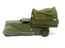 Vintage Army Covered Transport Truck, Pressed Steel