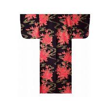 Authentische Japanische Yukata / Luftiger Kimono: fließende Pfingstrose #932 (de