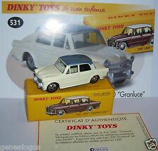 REEDITION DINKY TOYS ATLAS FIAT 1200 GRANDE VUE avec glaces REF 531  1/43 IN BOX