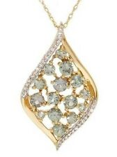 1.00ctw Diamond & Amethyst Necklace14K Yellow Gold