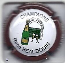Capsule de champagne Beaudouin René inscrption blanche contour lettre epaisse