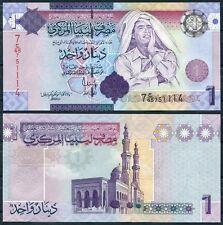 LIBIA LIBYA 1 Dinar 2009 GADAFI Pick 71 SC  /  UNC