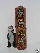 Hamm's Beer Totem Pole  Bear Salt and Pepper Set