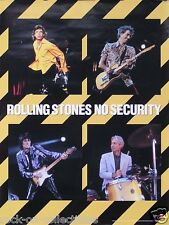 The Rolling Stones 1998 Original No Security Poster