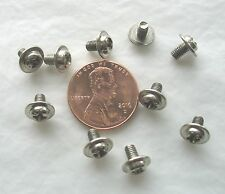 Lot (10) Phillips Flange Head Metric Machine Screws 3mm M3 x 5mm Zinc Steel