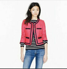 J.Crew Size 2 Lady Jacket Berry Pink Navy Double Serge Wool Blazer  $258 #99875