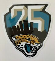 JACKSONVILLE JAGUARS 25TH ANNIVERSARY DECAL VINYL STICKER NFL FOOTBALL 1995-2019