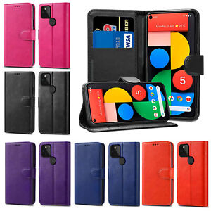 Leather Flip Wallet Case Card Holder Cover For Google Pixel 5 2 XL 3A XL 4A 4XL