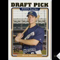 2005 Topps Update RYAN BRAUN Rookie Card RC #UH313 Milwaukee Brewers