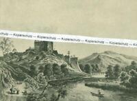 Burkheim am Kaiserstuhl - Schlossruine - Nach einer alten Darstellung - um 1930