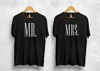 MR MRS T Shirt Wife Husband The King His Queen Holiday Valentines Couple Gift