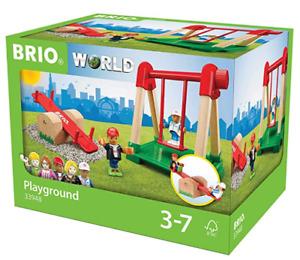 BRIO World - Village Playground 13948 Swing See-saw 2 Figures Wooden Toys