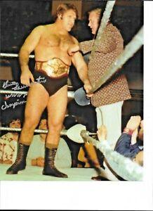 BRUNO SAMMARTINO WWE AUTOGRAPHED AUTHENTIC 8X10 WRESTLING PHOTO NO RESERVE RARE