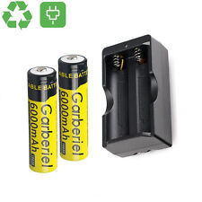 2X 6000mAh 3.7V Li-ion 18650 Rechargeable Battery BRC Recharge Cell&Dual Charger