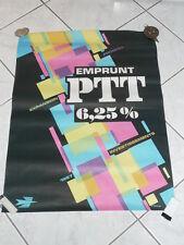 AFFICHE ANCIENNE EMPRUNT PTT 1967 SIGNE J. TULOUP