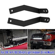 30'' Single Row LED Light Bar Hidden Grille Mounts Bracket For 09-14 Ford F-150
