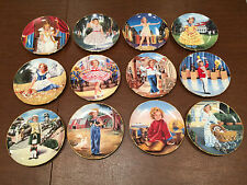 """Lot 12 Vintage Danbury Mint Shirley Temple 8"""" Collectible Cabinet Display Plates"""
