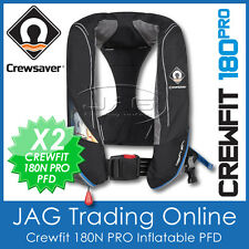 2 x CREWSAVER CREWFIT 180 PRO INFLATABLE 180N-MANUAL INFLATABLE LIFE JACKET PFD1