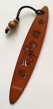 """Hawaiian Hula Girl Carved Wood Surfboard Book Markers Hawaii Aloha 6.75""""x1.75"""" N"""