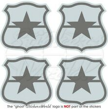 """CHILE Chilean AirForce Aircraft LowVis Roundels 50mm (2"""") Stickers, Decals x4"""
