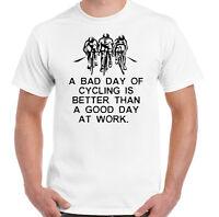 Un Mal día de ciclismo - Hombres Camiseta Divertida Moto Bici Montaña RACER ROAD