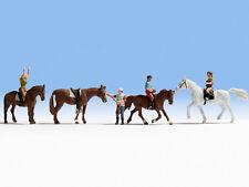 Riders & Horses - Equestrian set (4) - N figures - Noch 36630 - free post