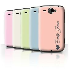 Personalisiert Individuell Pastell Töne Hülle HTC Wildfire/G8/Initiale Case/Etui