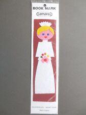 BOOKMARK Vintage FELT Bride Amara 1970s Unused on original Card Wedding Gift