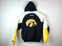 VTG Starter Iowa Hawkeyes Men's Embroidered Spell Out Puffer Jacket Sz M