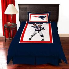 New NFL Biggshots New England Patriots Tom Brady Bedding Comforter Set TWIN SIZE