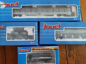 Wagons Jouef Silo Ucs Céréaliers/ Plat +voiture Dev Inox Neuf
