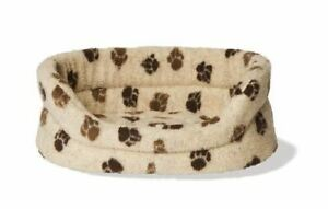 Danish Design Fleece Beige & Brown Slumber Bed - 18 - 71567