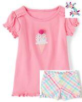 Gymboree Toddler Girls Hello Cupcake Curlies Tee Shorts 12-18 18-24 3T 4T  NWT