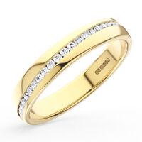 0.20CT Round Brilliant Cut Diamond Half Eternity Wedding Ring in 18K Yellow Gold