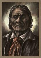 DDR Postkarte INDIANER Nordamerika Chiricahua-Apache GERONIMO (anno 1880)
