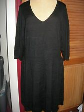 3543e0f7e3 Lane Bryant Black 3 4 Sleeve V Neck Seamed Sweater Dress 26 28 3x