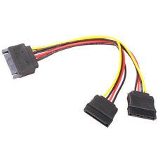 K14 SATA Kabel Stromkabel 1x Stecker auf 2x SATA Buchse Power Stromadapter PC