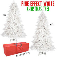 5ft/6ft Duluxe White Pine Effect Artifical Christmas Tree w/Red Storage Bag