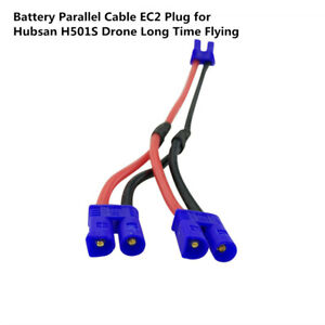 Battery Parallel Cable EC2 Plug for Hubsan H501S Drone Long Time Flying