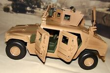 1:18 BBI Elite Force US Army Armored M1114 Up Humvee Military Vehicle w/ Figure