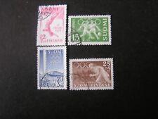 Finland, Scott # B110-B113(4), Complete Set 1951-52 Semi-Postal Olympics Used