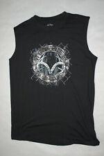 70cadde9e0497 Mens T-Shirt BLACK MUSCLE TEE Sleevlss REALTREE EST. 1986 Logo   Design L